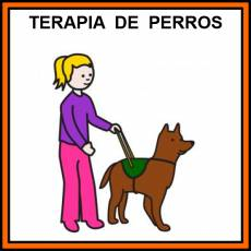 TERAPIA DE PERROS - Pictograma (color)