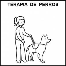 TERAPIA DE PERROS - Pictograma (blanco y negro)