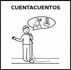 CUENTACUENTOS - Pictograma (blanco y negro)