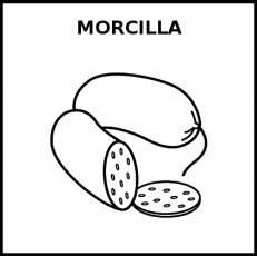 MORCILLA - Pictograma (blanco y negro)