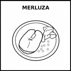 MERLUZA (ALIMENTO) - Pictograma (blanco y negro)