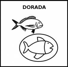 DORADA (ALIMENTO) - Pictograma (blanco y negro)