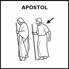 APÓSTOL - Pictograma (blanco y negro)