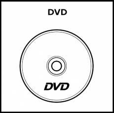 DVD - Pictograma (blanco y negro)