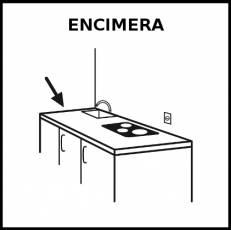 ENCIMERA - Pictograma (blanco y negro)