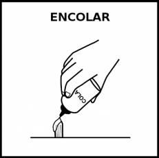 ENCOLAR - Pictograma (blanco y negro)