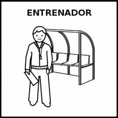 ENTRENADOR - Pictograma (blanco y negro)