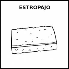 ESTROPAJO - Pictograma (blanco y negro)