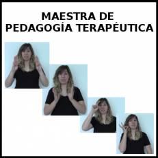 MAESTRA DE PEDAGOGÍA TERAPÉUTICA - Signo alternativo