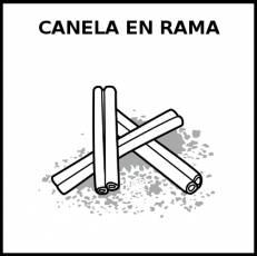 CANELA EN RAMA - Pictograma (blanco y negro)