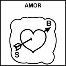 AMOR - Pictograma (blanco y negro)