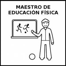 MAESTRO DE EDUCACIÓN FÍSICA - Pictograma (blanco y negro)