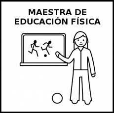 MAESTRA DE EDUCACIÓN FÍSICA - Pictograma (blanco y negro)