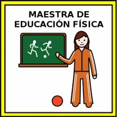 MAESTRA DE EDUCACIÓN FÍSICA - Pictograma (color)