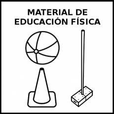 MATERIAL DE EDUCACIÓN FÍSICA - Pictograma (blanco y negro)