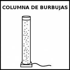 COLUMNA DE BURBUJAS - Pictograma (blanco y negro)