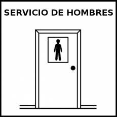 SERVICIO DE HOMBRES - Pictograma (blanco y negro)