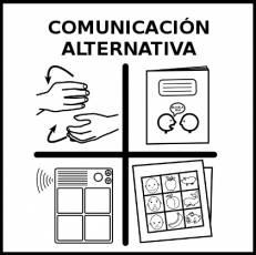 COMUNICACIÓN ALTERNATIVA - Pictograma (blanco y negro)