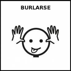 BURLARSE - Pictograma (blanco y negro)