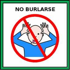 NO BURLARSE - Pictograma (color)
