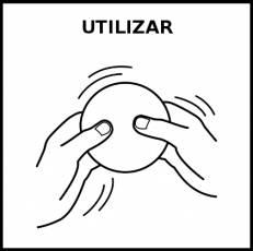 UTILIZAR - Pictograma (blanco y negro)