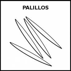 PALILLOS (MONDADIENTES) - Pictograma (blanco y negro)