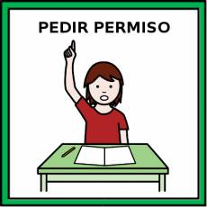 PEDIR PERMISO - Pictograma (color)