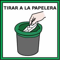 TIRAR A LA PAPELERA - Pictograma (color)