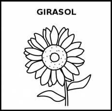 GIRASOL - Pictograma (blanco y negro)