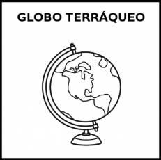 GLOBO TERRÁQUEO - Pictograma (blanco y negro)