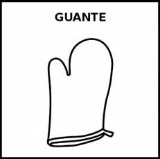 GUANTE (DE HORNO) - Pictograma (blanco y negro)