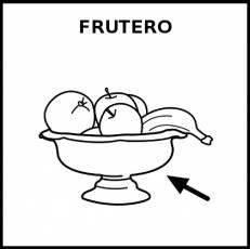 FRUTERO (RECIPIENTE) - Pictograma (blanco y negro)