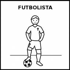 FUTBOLISTA (HOMBRE) - Pictograma (blanco y negro)