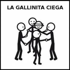 LA GALLINITA CIEGA - Pictograma (blanco y negro)