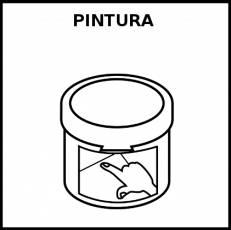 PINTURA (DEDOS) - Pictograma (blanco y negro)