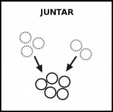 JUNTAR - Pictograma (blanco y negro)