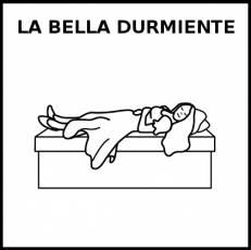LA BELLA DURMIENTE - Pictograma (blanco y negro)