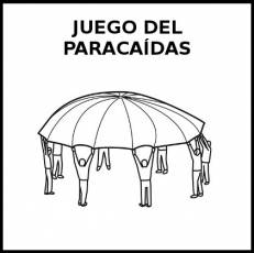 JUEGO DEL PARACAÍDAS - Pictograma (blanco y negro)