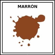 MARRÓN - Pictograma (color)