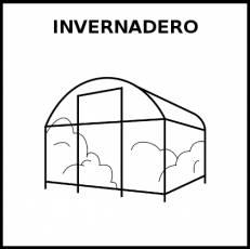 INVERNADERO - Pictograma (blanco y negro)