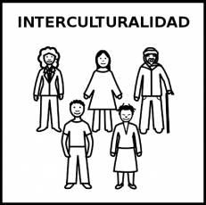 INTERCULTURALIDAD - Pictograma (blanco y negro)