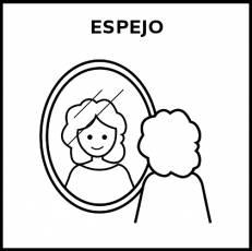ESPEJO (DE PARED) - Pictograma (blanco y negro)