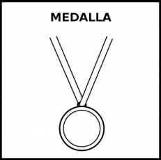 MEDALLA (TROFEO) - Pictograma (blanco y negro)
