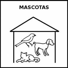MASCOTAS - Pictograma (blanco y negro)