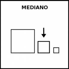 MEDIANO - Pictograma (blanco y negro)
