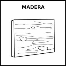 MADERA - Pictograma (blanco y negro)