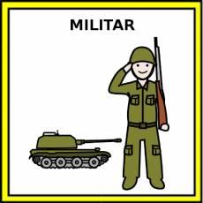 MILITAR (HOMBRE) - Pictograma (color)