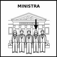 MINISTRA - Pictograma (blanco y negro)