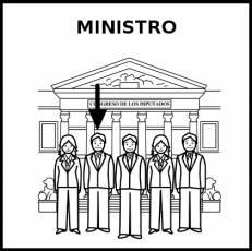 MINISTRO - Pictograma (blanco y negro)