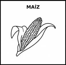 MAÍZ - Pictograma (blanco y negro)